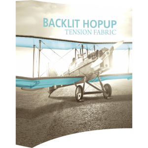 Hopup 8 ft Curved Backlit Tension Fabric Display Kit