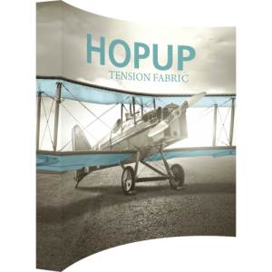 Hopup 10 ft Curved Extra Tall Tension Fabric Display