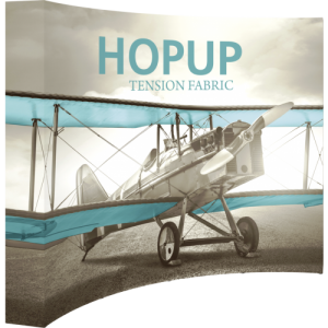 Hopup 10 ft Curved Full Height Tension Fabric Display