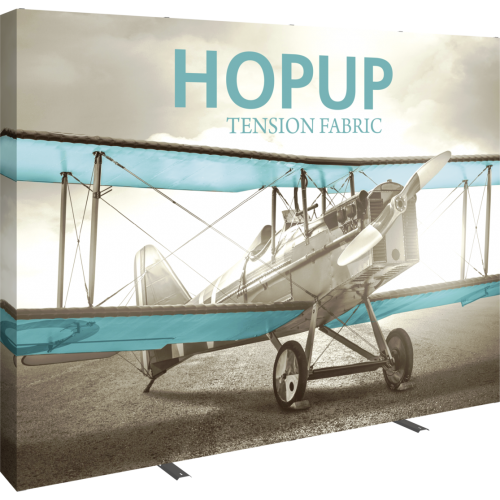 Hopup 10 ft Straight Full Height Tension Fabric Display