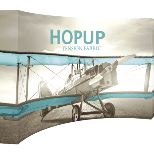 Hopup 13 Ft Curved Full Height Tension Fabric Display