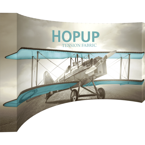 Hopup Curved 15 foot Full Height Tension Fabric Display