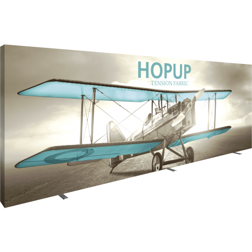 Hopup 20 foot Straight Full Height Tension Fabric Display