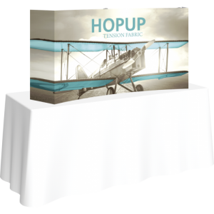 Hopup 5ft Curved Tabletop Tension Fabric Display