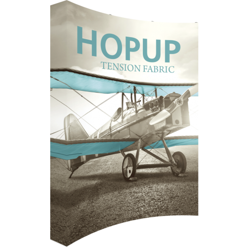 Hopup 8 ft Curved Extra Tall Tension Fabric Display