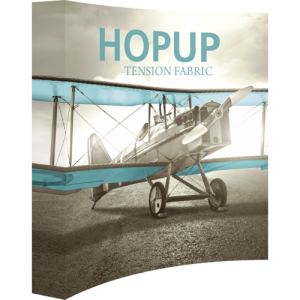 Hopup 8 ft Curved Full Height Tension Fabric Display