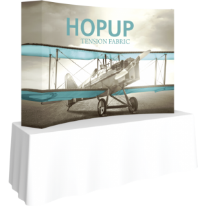 Hopup 7.5 Curved Tabletop Tension Fabric Display