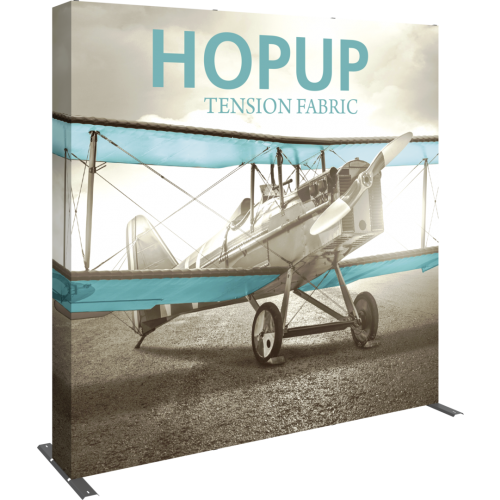 Hopup 8 ft Straight Full Height Tension Fabric Display