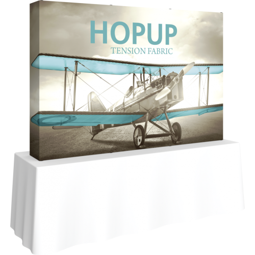 Hopup 7.5 Straight Tabletop Tension Fabric Display