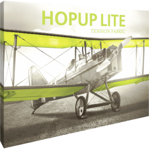 Hopup Lite 10 ft Straight Full Height Tension Fabric Display