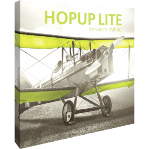 Hopup Lite 8 ft Straight Full Height Tension Fabric Display