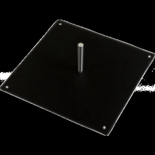 Zoom flex flag steel square base